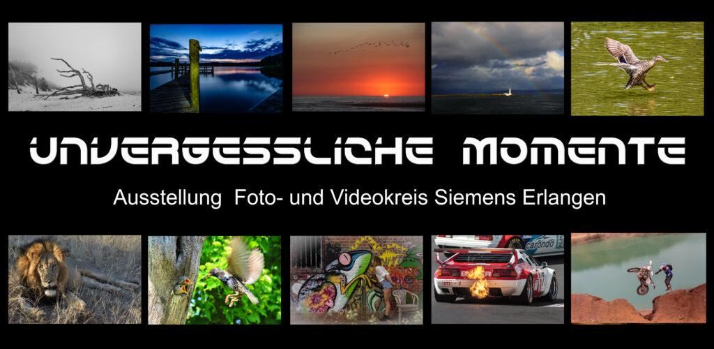 Unvergessliche Momente - Vernissage Foto- und Videokreis Siemens Erlangen @ Verwaltungsgebäude Siemens AG,
